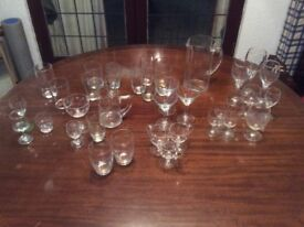 36 pieces of glassware job lot