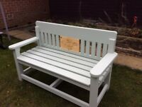 Hand crafted garden bench
