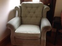 Small green armchair 'fine quality' great condition