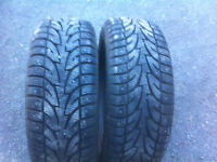 Two  215/55R17  winter Tires with studs