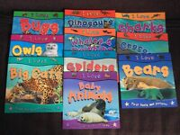 I Love Animals Non Fiction Children's Fact Book Set of 10