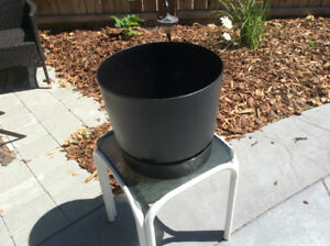 2 -  14 INCH BLACK POTS; 12 inches high; excellent condition; $1