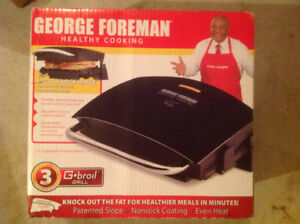 """George Foreman G-Broil  Grill  """"Healthy Cooking"""""""