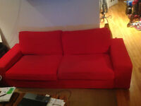 Canapé Kivik ikea Rouge - Red couch kivik