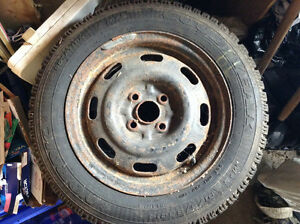 Ford Escort Winter Tires set of 4 Kitchener / Waterloo Kitchener Area image 1