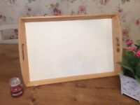 PINE AND WHITE LARGE TRAY