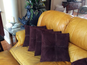 Easycare Microfiber CUSHIONS. Like new Rich Chocolate Brown