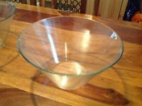 Glass Round High Bowls x 2 for Salad or Desserts