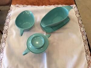 Blue melmac set - 5 pieces