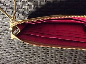 $35.00 Coach Legacy Zippy Striped Wallet w/Gold Leather Trim Prince George British Columbia image 3