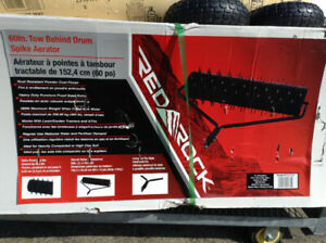 60 inch TOW BEHIND DRUM SPIKE AERATOR NEW IN BOX