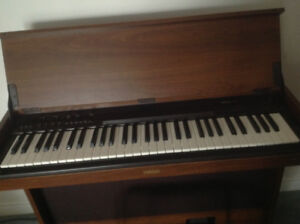 "Organ-Electric Yamaha- 30""H, 36 1/2"" W, 16""deep cabinet, & Stool"