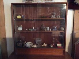 Trophy/Display Cabinet with glass sliding doors and 1shelf.