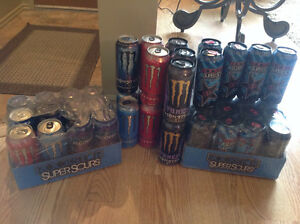 Mixed flavours of energy drinks