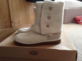 Knitted UGG BOOTs worn once