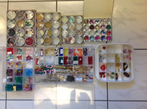 Beading and Craft Supplies with Organizers
