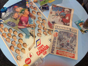 '81 Canada Cup Poster. '87 '91 Canada Cup Previews
