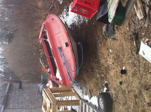 14ft Speed boat with 25hp evinrude outboard motor