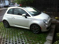 2012 Fiat 500 SPORT (CUIR, MAGS, TOIT OUVRANT, BLUETOOTH, A/C)