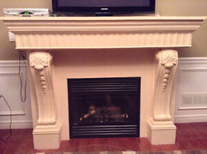 Plaster Fireplace Mantel (includes gas insert)
