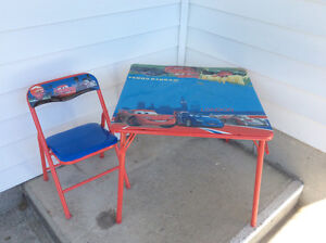 The Cars folding table w/ one chair