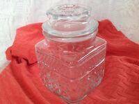 VINTAGE Glass Canister (2 available $6 ea or 2/$10)