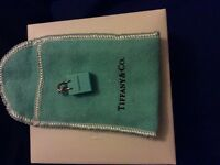 Authentic Tiffany & co. Blue shopping bag charm