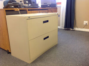 2 Drawer Beige Lateral Filing Cabinet