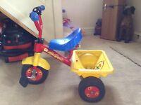 3 wheeled toddler bike