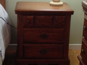Palliser oak dresser with mirror and night stand