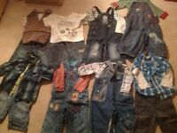 Bundle of baby boys clothes. Age 6-9 months.