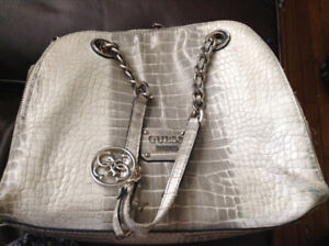 Gently used genuine leather Guess handbag $100 OBO