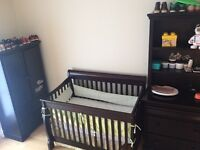BABY CRIBS SET WITH MATTRESS & DRESSER