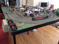Hornby 00 Train Set. Full fixed layout and rolling stock (trains). Trainset. Trains. Railway.