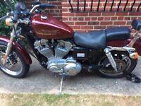 2001 Harley Davidson 883 sportster 5,000 miles only warranted