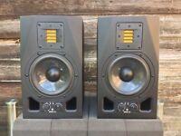 ADAM AUDIO A5X (pair) Active Studio Monitors + Isolation Pads