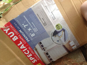 8ftx7ft insulated garage door with windows, still in the box