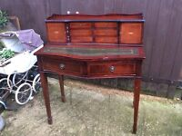 Beautiful reproduction leather top ladies desk