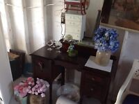 SOLID WOOD ANTIQUE VANITY FOR SALE