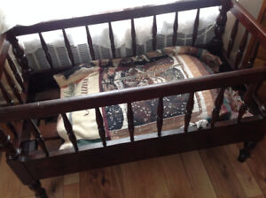 Small wooden crib/cradle for sale