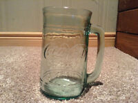 Glass Coca Cola mug with handle (and Coke on other side)