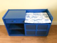 Dr Who inspired Telephone Table, Upcycled 1960s, Kids Furniture