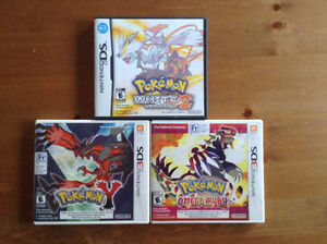 Pokemon Ds and 3Ds Games