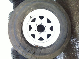 "BRAND NEW - Steel Spoke Trailer Wheel - 16"" x 6"" Rim & tire"