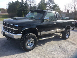 1993 Chevrolet 1500 4x4 Diesel 6.2 auto 8' box lifted show $6995