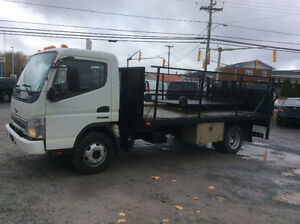 2007 cabover Sterling diesel ,auto 15' flat deck hydraulic lift.