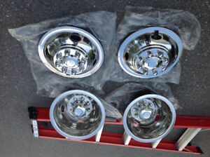 RV stainless steel wheel covers