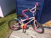 "Let your little princess have lots of fun time on this pink 16"" bike"