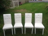 WHITE FAUX CHAIRS