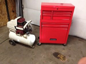 Toolbox and compressor